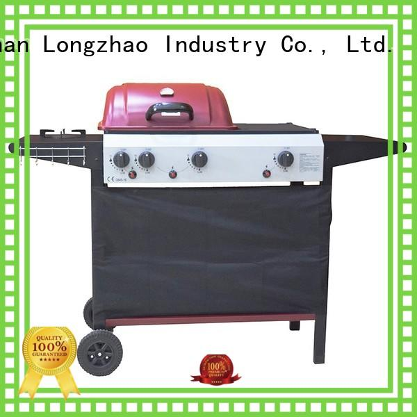 Longzhao BBQ large storage best 2 burner gas grill for garden grilling