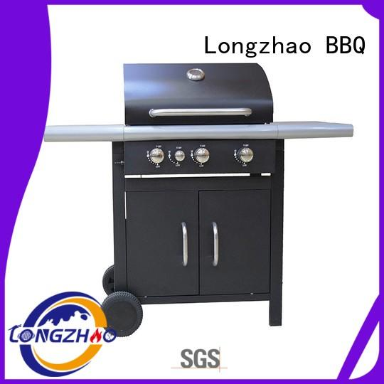 Longzhao BBQ large storage liquid gas grills burners for cooking