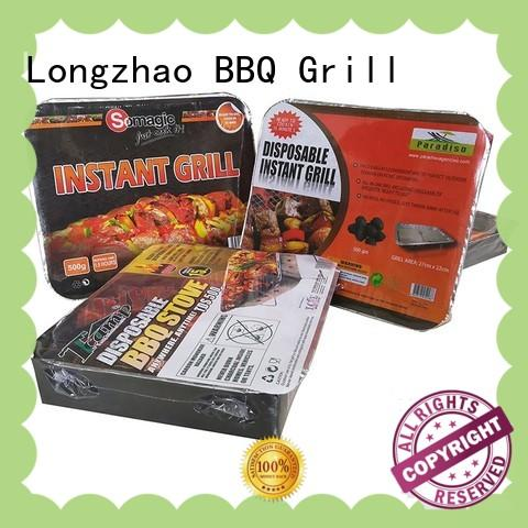 Longzhao BBQ instant charcoal broil grill high quality for outdoor cooking
