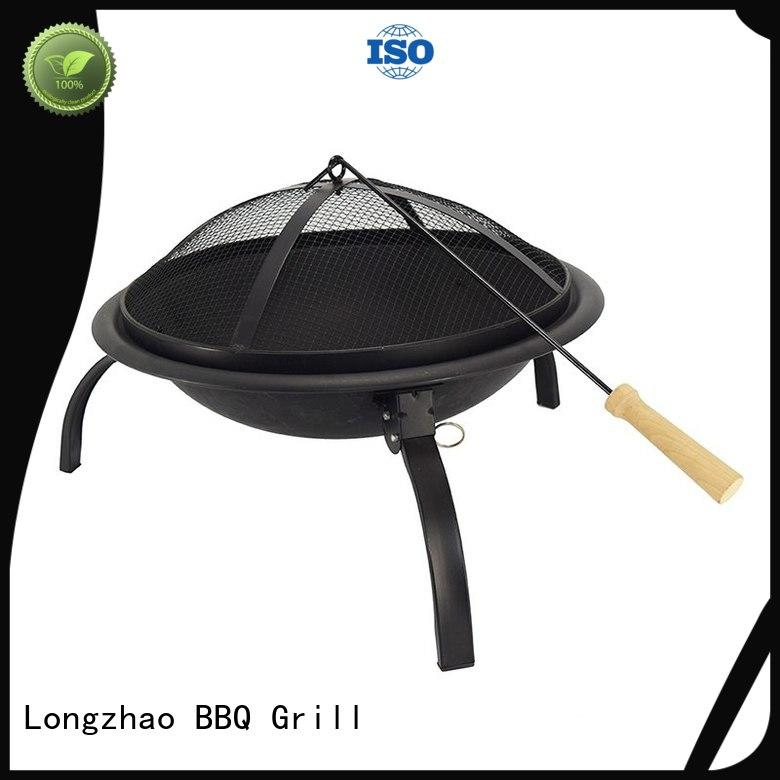 round metal barbecue grill de camping order now for outdoor bbq Longzhao BBQ