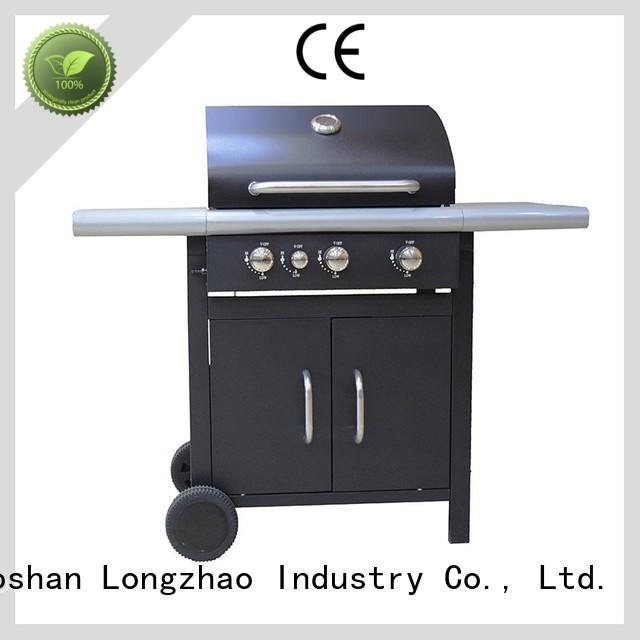 Longzhao BBQ large storage cast iron bbq grill burner for garden grilling