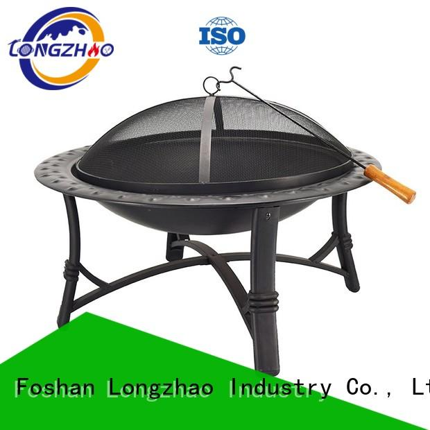 Longzhao BBQ large round metal fire pits shape for camping