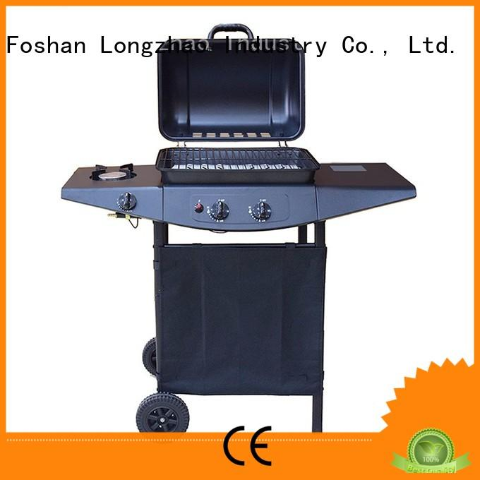large storage stainless steel gas grill silver for garden grilling