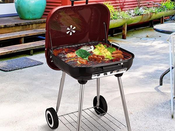 Longzhao BBQ simple structure stainless charcoal grills high quality for outdoor cooking-3
