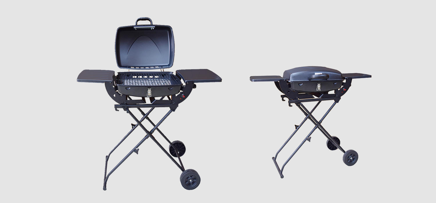 easy moving 3 burner propane gas grill griddle for cooking Longzhao BBQ-1