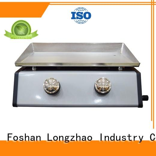 portable tabletop Gas Grill silver for garden grilling