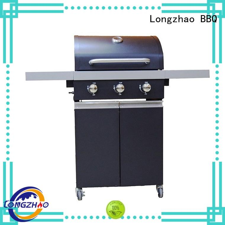 Longzhao BBQ Brand easy burners gas barbecue bbq grill 4+1 burner top supplier