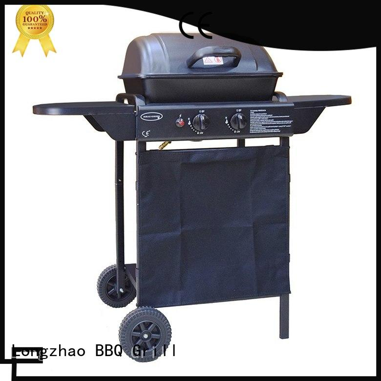 Longzhao BBQ easy moving portable gas grill black for garden grilling