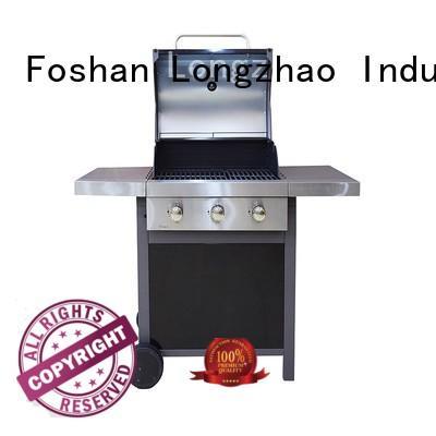 easy moving outdoor half grill half griddle burner for garden grilling