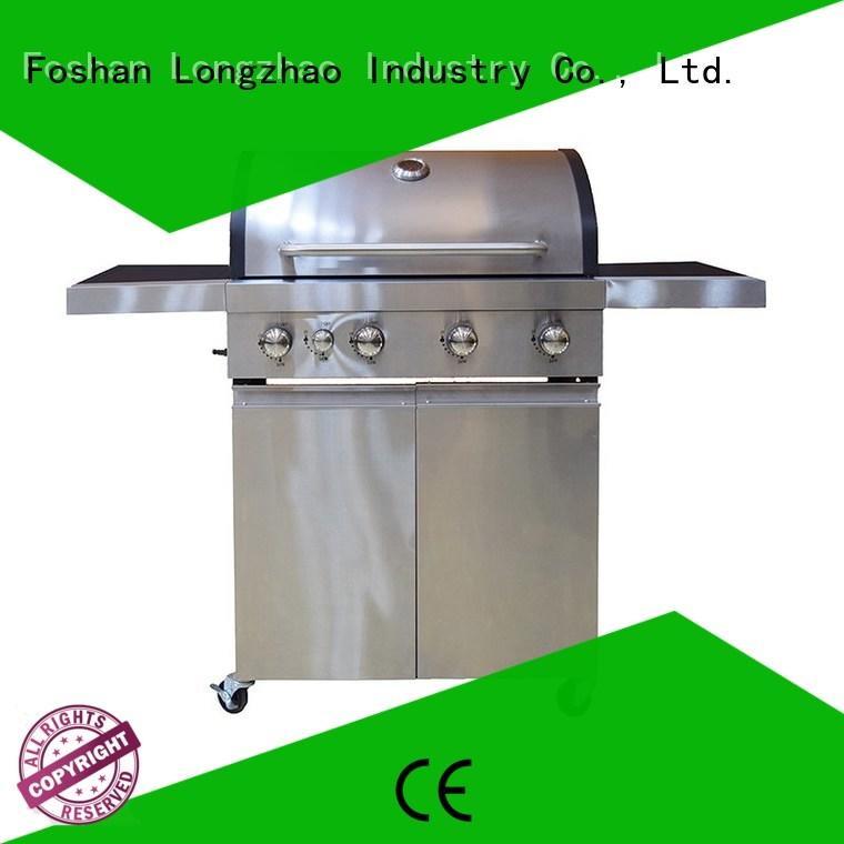 stainless steel best gas bbq grills plancha for garden grilling Longzhao BBQ