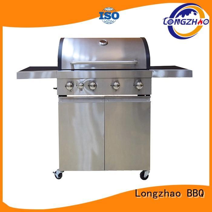 Wholesale black liquid gas grill Longzhao BBQ Brand