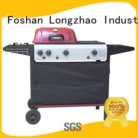 Longzhao BBQ large base stainless steel gas grill half for garden grilling