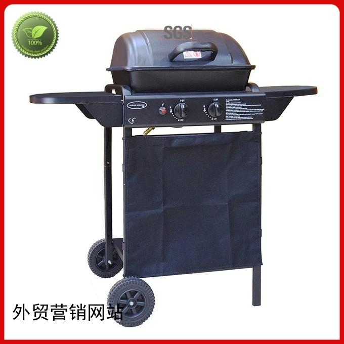Quality Longzhao BBQ Brand 2 burner gas grill silver steel