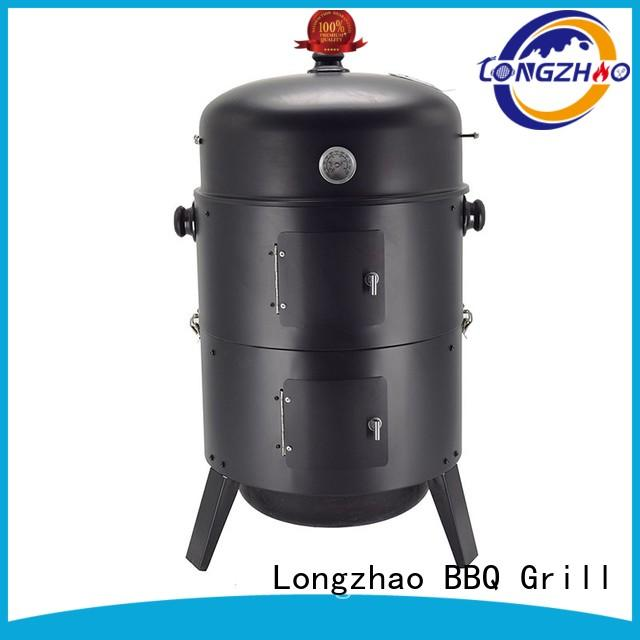round metal blue grill barrel for camping
