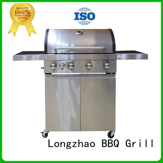 Longzhao BBQ portable stainless steel gas grill for cooking