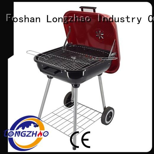Longzhao BBQ fire best charcoal grill red for outdoor cooking