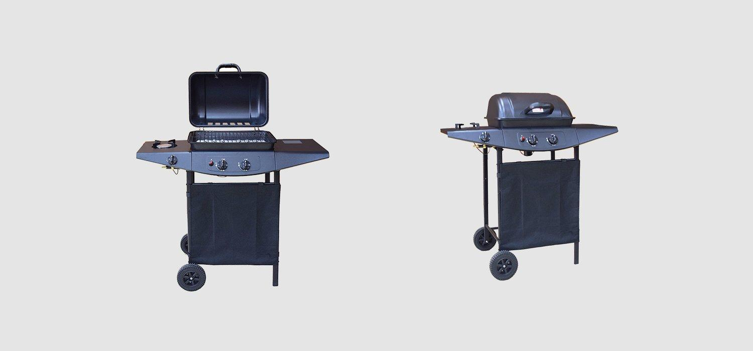 2+1 Burners Backyard Butane Gas BBQ Grills-1