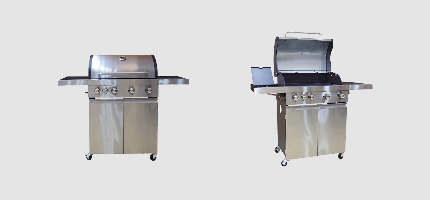 large storage bbq natural gas grill easy-operation for garden grilling-1