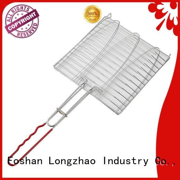 Wholesale side bbq grill basket Longzhao BBQ Brand