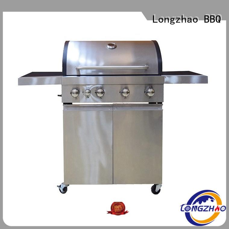 gas barbecue bbq grill 4+1 burner liquid silver liquid gas grill Longzhao BBQ Brand