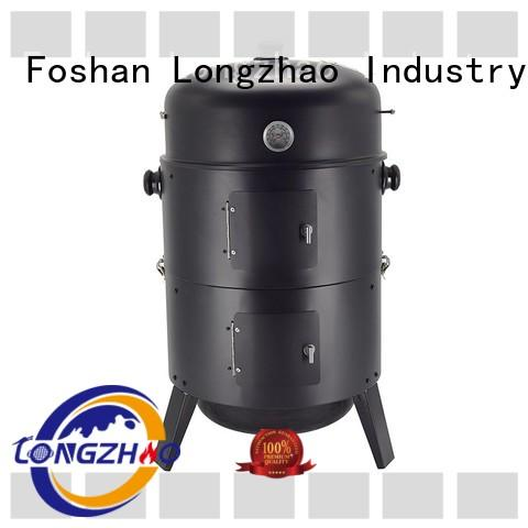 burning rectangular bbq grill heating for barbecue Longzhao BBQ