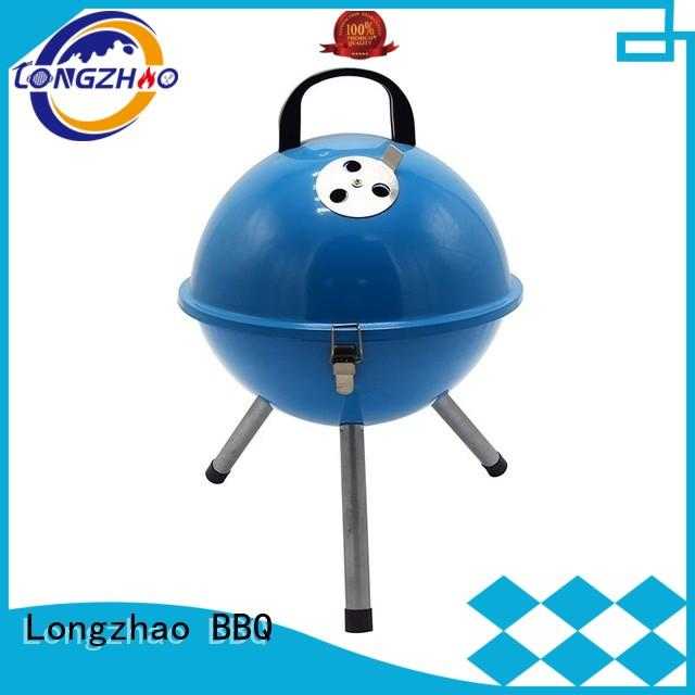 steel barrel charcoal bbq grill at discount for camping Longzhao BBQ