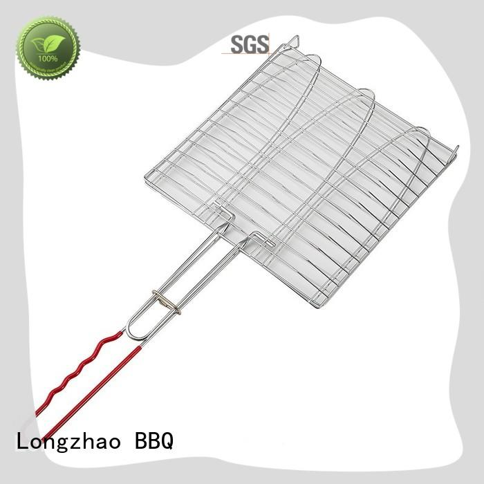Longzhao BBQ stainless steel best grilling accessories custom for outdoor camping