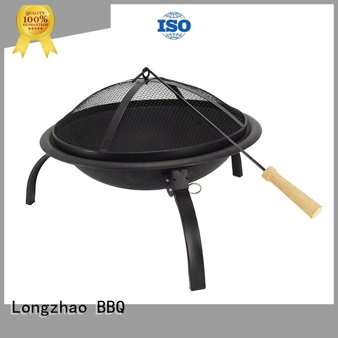 wood trolley bbq grill shape for outdoor cooking Longzhao BBQ