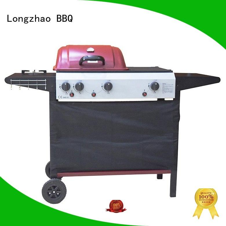 Longzhao BBQ easy moving portable butane gas grill hood for garden grilling