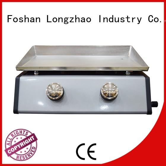 Longzhao BBQ large storage 3 burner gas grills on sale for garden grilling