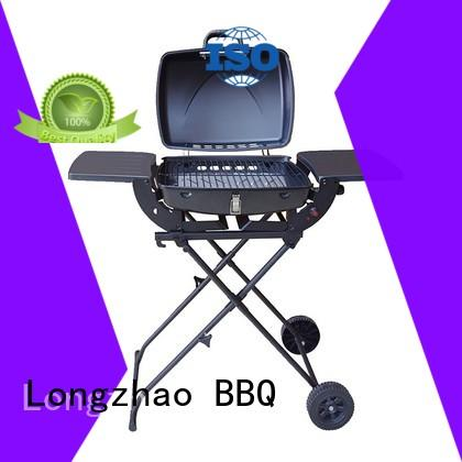 easy moving gas cooktop with grill plate griddle for garden grilling