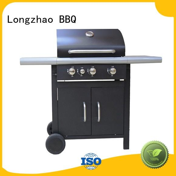 Longzhao BBQ propane classic 2 burner gas grill cart for garden grilling
