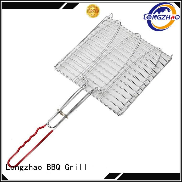 Longzhao BBQ folding grill basket factory price for gatherings