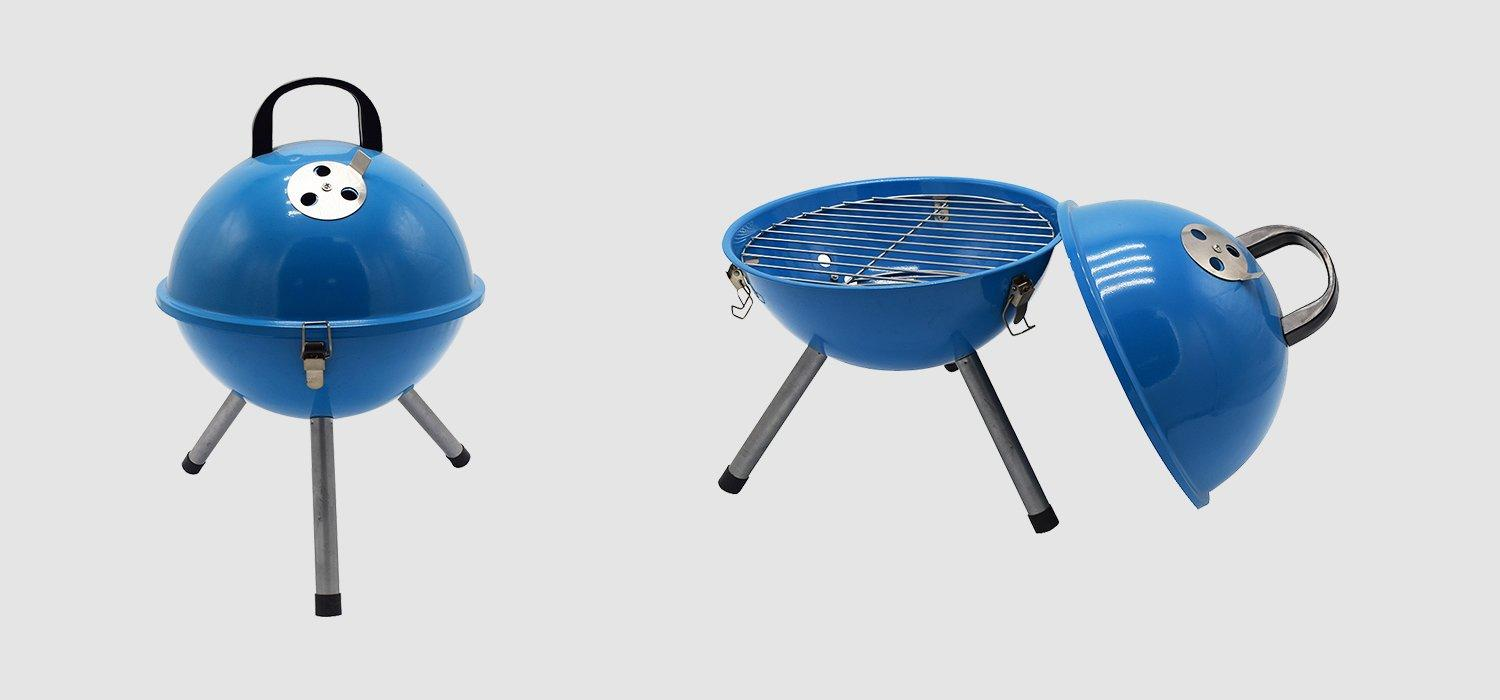 Longzhao BBQ round metal charcoal bbq grill sale high quality for outdoor bbq-1