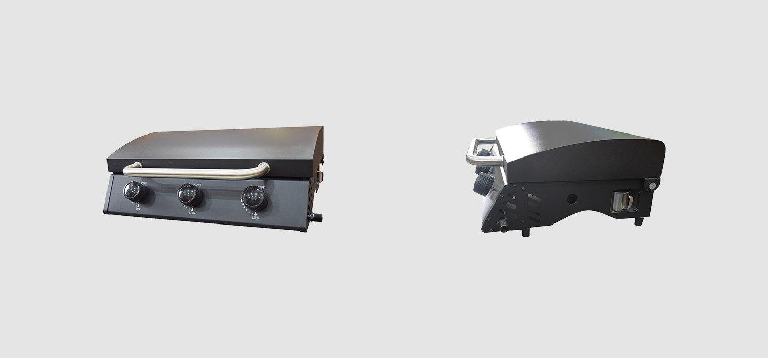 Tabletop 3 Burners Propane Gas BBQ Grills With Hood-1