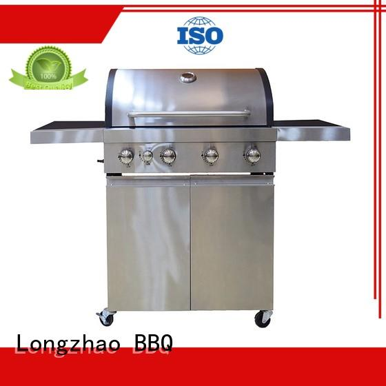 Custom plate half best gas bbq Longzhao BBQ trolley