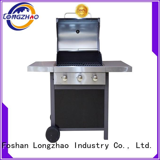 gas barbecue bbq grill 4+1 burner gas large liquid gas grill manufacture