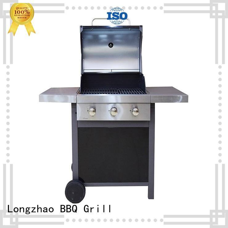 propane cast iron charcoal grill side for garden grilling Longzhao BBQ