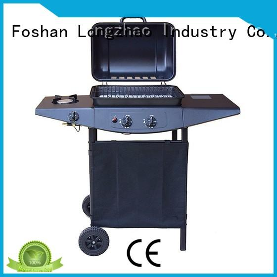 Longzhao BBQ silver gas grill hood for cooking