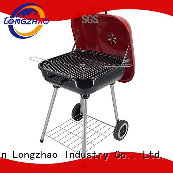 Longzhao BBQ simple structure stainless charcoal grills high quality for outdoor cooking
