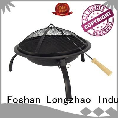 Longzhao BBQ round charcoal grill high quality for camping