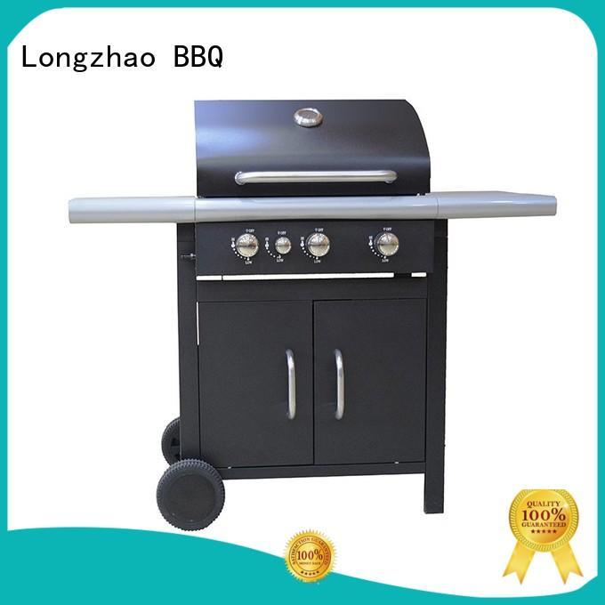 Longzhao BBQ Brand hood 2 burner gas grill cart supplier