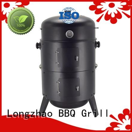 Longzhao BBQ wood blue bbq grill shape for camping