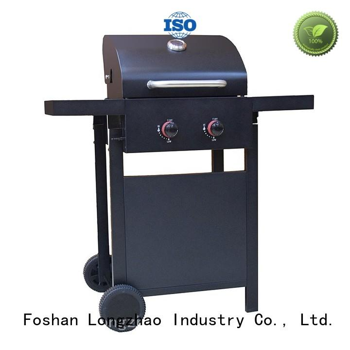 2 burner gas grill low price iron side Longzhao BBQ Brand