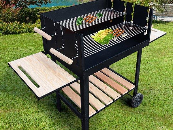 Longzhao BBQ light-weight outdoor charcoal grill high quality for outdoor cooking-3