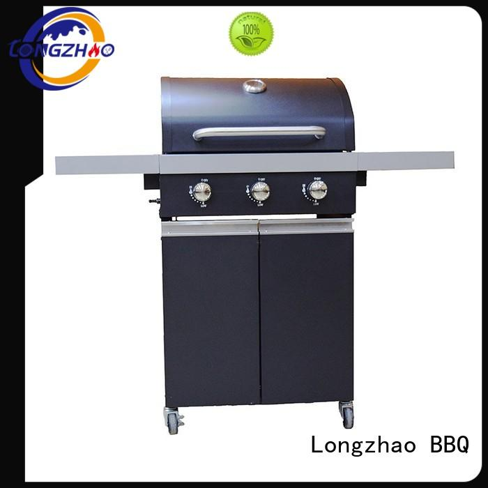 stainless barbecue Longzhao BBQ Brand gas barbecue bbq grill 4+1 burner factory
