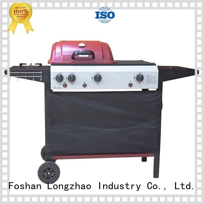 2 burner gas grill half top table Longzhao BBQ Brand company