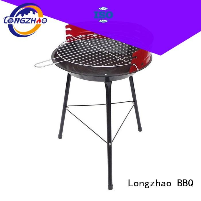 patio black red garden gas barbecue bbq grill 4+1 burner Longzhao BBQ Brand