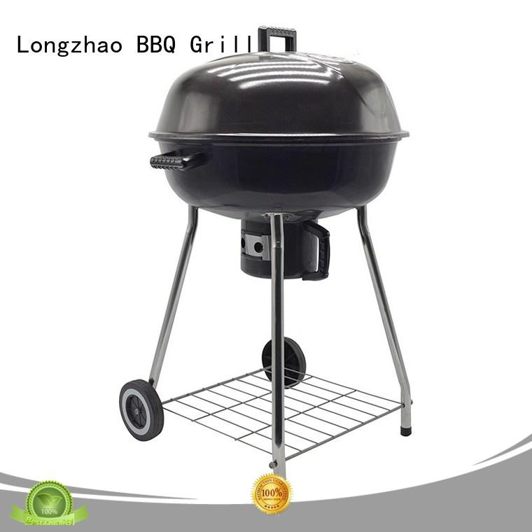 burning small charcoal grill trolley for barbecue