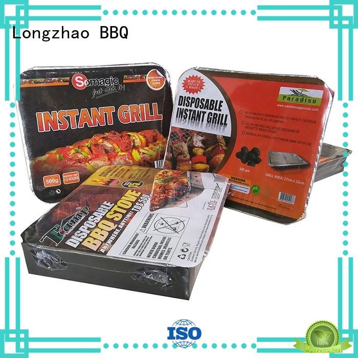 Longzhao BBQ round metal small charcoal grill steel for barbecue